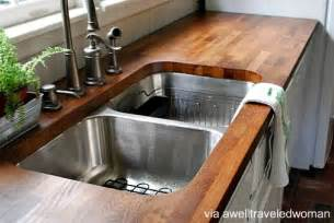 Diy Kitchen Countertops Ideas by Rustic Wood Countertops Diy Galleryhip Com The Hippest