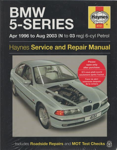 automotive repair manual 2001 bmw 5 series on board diagnostic system bmw 5 series service and repair manual haynes 1996 2003 new sagin workshop car manuals repair