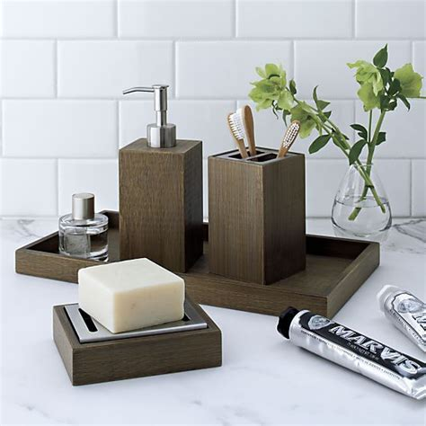 dixon bamboo soap dispenser crate and barrel and