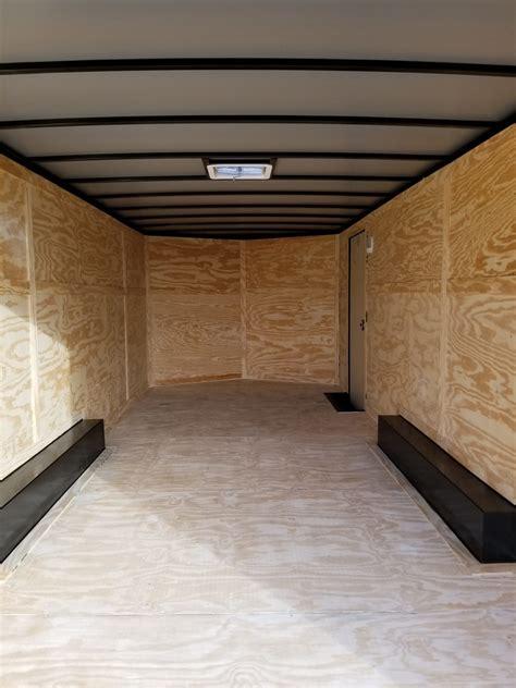 enclosed trailer  black ad  usa cargo trailer