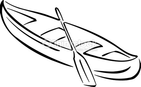 how to draw a kayak boat canoe and paddle vector art thinkstock