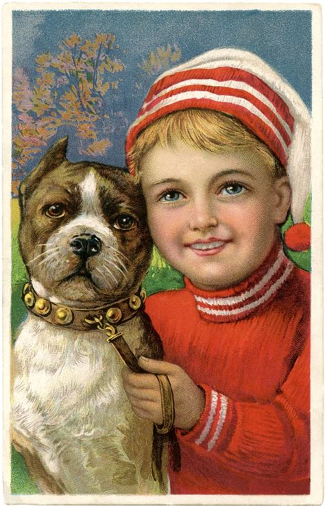 christmas picture adorable boy  dog  graphics fairy