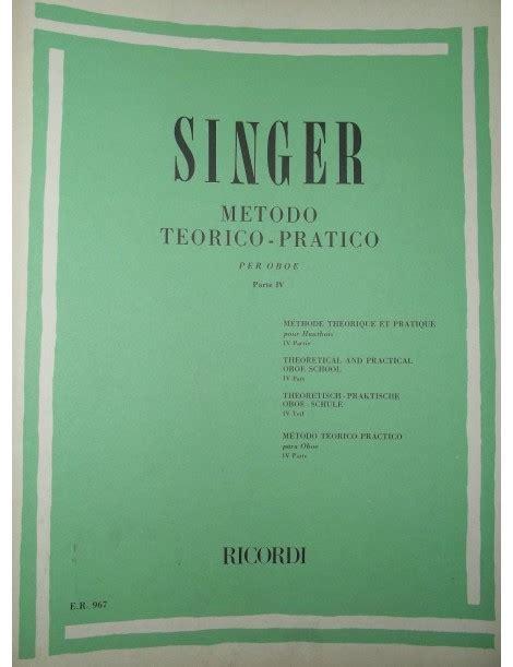 0041823680 studi per oboe vol singer metodo teorico pratico per oboe vol 4