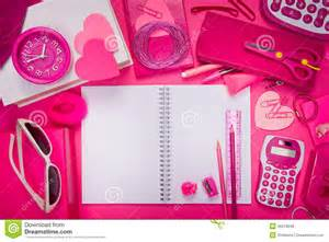 Cute Bedroom Ideas For Girls girly pink desktop and stationery stock photo image