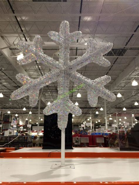 costco white lights 36 led snowflake costcochaser