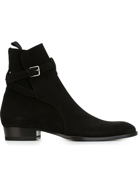 mens laurent boots lyst laurent hedi 30 boots in black for