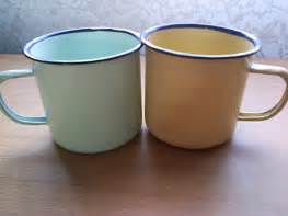 Mug Enamel Putih Pinggiran Stainless 12 Cm wholesalers in cape town importers of toys bags shoes houseware