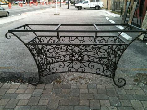 wrought iron table base for granite custom wrought iron table base can carry slab of