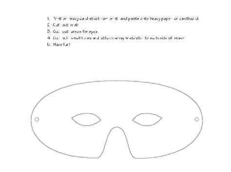 blank mask template search results for masquerade mask template printable