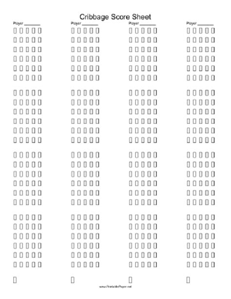 printable cribbage score sheet