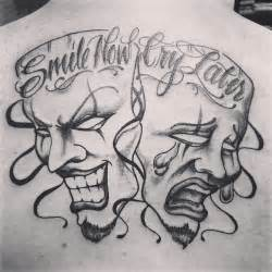Laugh Now Cry Later Tattoos Outline by Boog Drawings Tattoos Studio Design Gallery Best Design