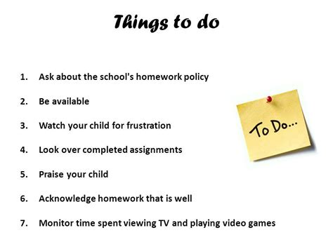 10 Things About Homework by Homework Help Ppt