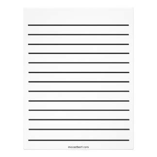 thick writing paper bold lines letterhead zazzle