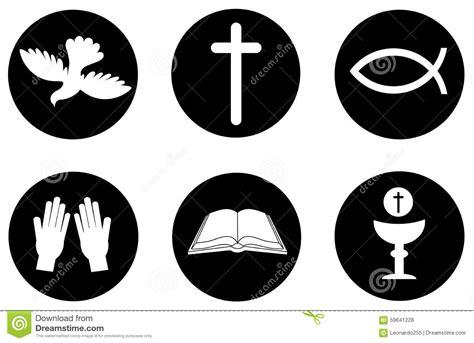 imagenes de simbolos foneticos iconos y s 237 mbolos del cristianismo ilustraci 243 n del vector