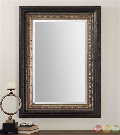 Uttermost Wall Mirrors Clermont Contemporary Distressed Dark Bronze Accented