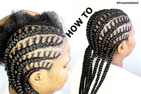 cornrows with how to do simple cornrow braids black hair