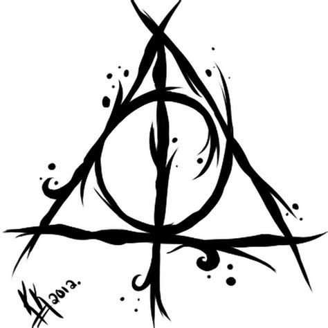collection of 25 deathly hallows tattoo