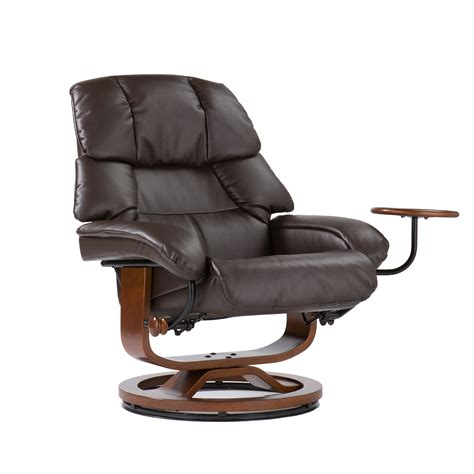 leather recliner and ottoman southern enterprises modern leather recliner and ottoman