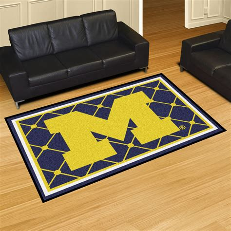 Area Rug 5 X 8 Michigan Wolverines 5 X 8 Area Rug