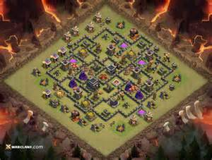 Top clash of clans th9 war base layouts