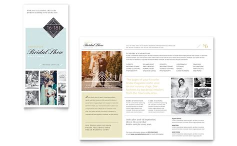 bridal show tri fold brochure template word publisher