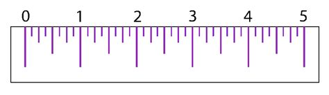 printable ruler to the quarter inch linear measurement