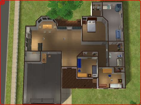 Housing Floor Plans Free by Mod The Sims Suburban Home No 2