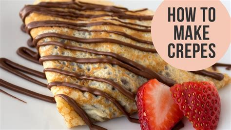 how to make crepes valentine s day recipe youtube
