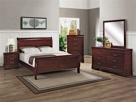 Bedroom Sets Greensboro Nc by Louis Phillip Cherry Finish 6 Pc Bedroom Set Kimbrell S