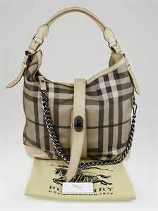 Burberry Check Canvas Hobo Bag Bliss by Burberry Smoked Check Coated Canvas Chain Hobo Bag Yoogi