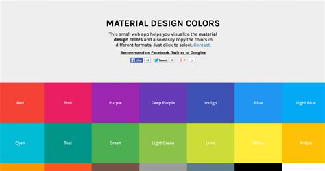 material design color schemes 4 tools for creating brilliant material design color pallets