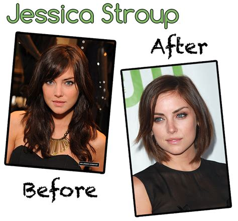 before and after long to short hair heel kort haar maar ook heel vrouwelijk mode beauty