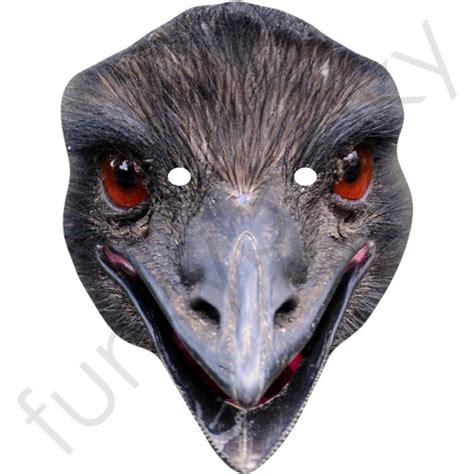 emu mask template printable emu animal mask personalised and celebrity masks with