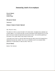 Sle Memo Letter For Absence Announcement Of Employee Leaving Sle Letter Ideas Wording To Use When Giving Out Room Block
