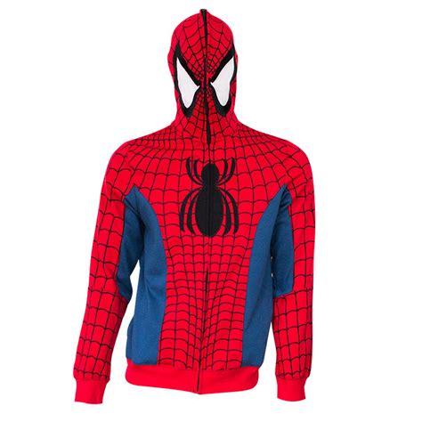 spiderman sublimated costume hoodie superherodencom
