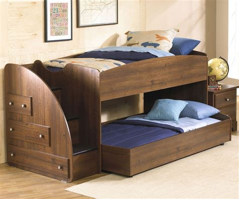 Bunk And Trundle Beds Loft Bed With Trundle Is Best Solutions Loft Bed Design