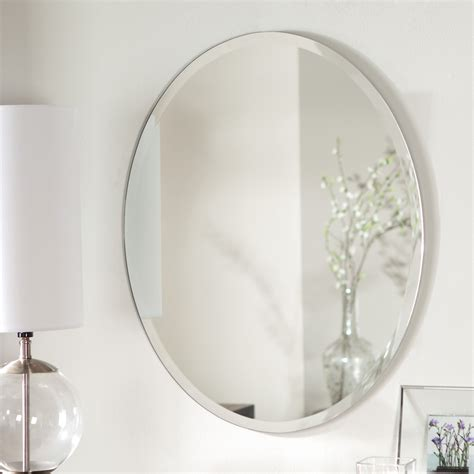 oval bathroom wall mirrors d 233 cor wonderland odelia oval bevel frameless wall mirror