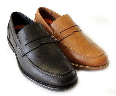 mens dress shoes loafers new mens loafers boat slip on leather lined dress