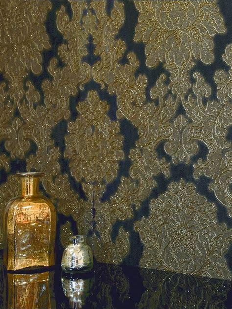 gold wallpaper emmerdale vicenza damask wallpaper black gold arthouse 270405