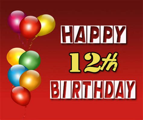 12 wishes of happy 12th birthday wishes occasions messages