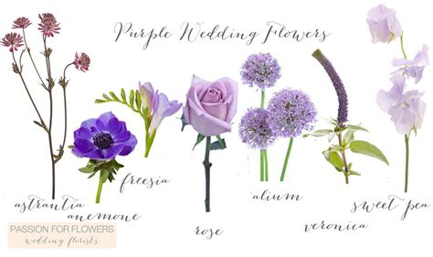 Purple Flowers Wedding by Purple Wedding Flowers For Flowers