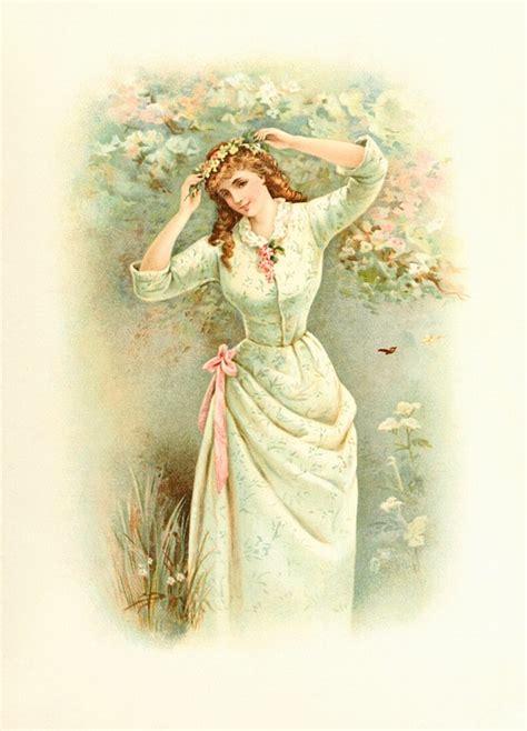 Illustration gratuite: Dame, Printemps, Vintage, Femme   Image gratuite sur Pixabay   1097260