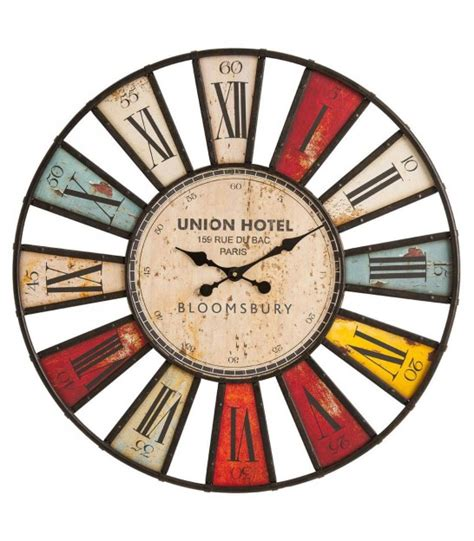 horloge murale multicolor wall clock