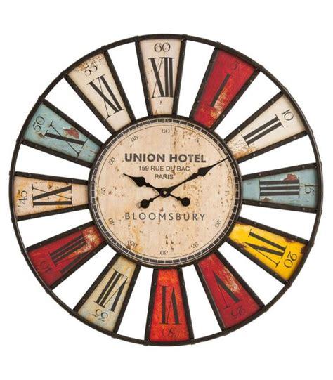 horloge murale antique horloge murale originale multicolore bilbao 74cm wadiga