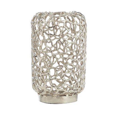 V Design Coral Candle Holder by Rjr Rocha Silver Coral Shaped Pillar Candle Holder