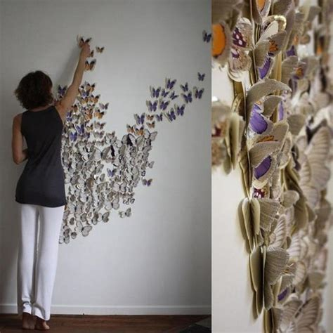 Paper Craft Ideas For Adults - handmade butterflies decorations on walls paper craft ideas