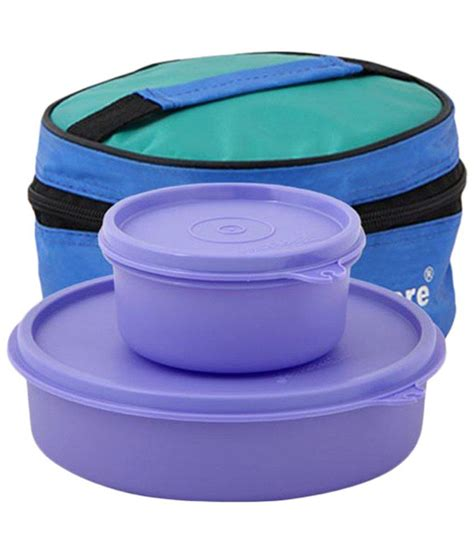 Tupperware Lunch Box tupperware pack of 2 purple plastic lunch boxes buy