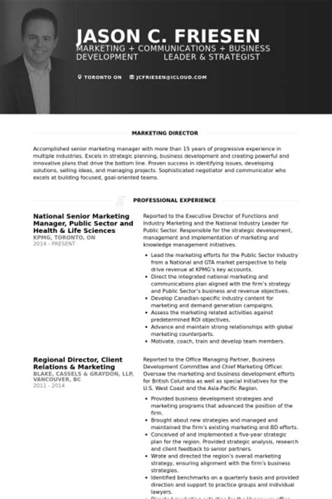 resume format for experienced marketing manager marketing manager resume sles visualcv resume sles database