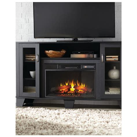 home depot media fireplace home decorators collection grand 59 in media