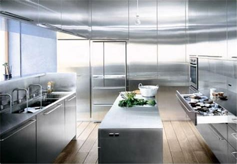 the kitchen gallery aluminium and stainless steel spaces that shine steel copper in interior design